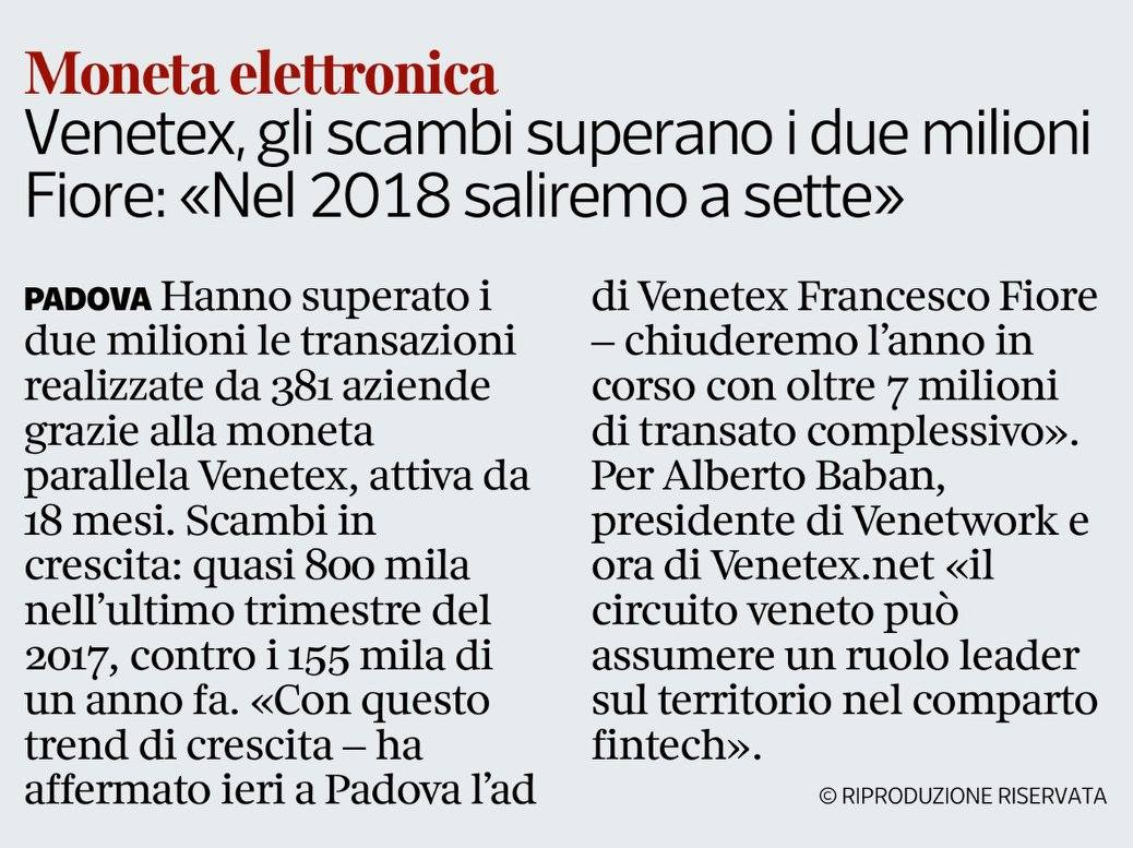 Corriere Veneto - 19 gennaio 2018